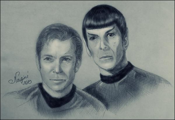 Leonard Nimoy, William Shatner por Nagini